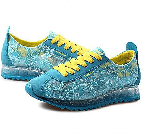 Scarpe moda estate selvaggia/Sneakers casual/Comfort traspirante scarpe Blu
