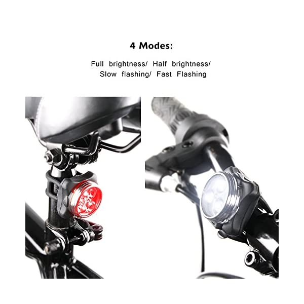 Rechargeable LED Bike Lights Set ebay