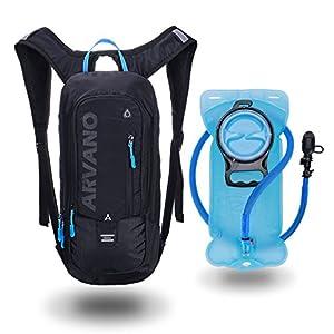 6L Mini Bicicleta mochila impermeable,Jarvan paquete de hidratación con mochila 2L bolsa de agua bicicleta de esquí bolsa de esquí Biking, respirable hombro mochila ligero para los deportes al aire libre acampar corriendo