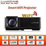 """Luxcine CM2 Smart WiFi Full HD 1080P 3200 Lumens LED Home Cinema Projector With Miracast Airplay 200"""" Display"""
