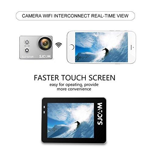 "SJCAM SJ7 STAR 4K HD WIFI Action Camera 2""LCD Touch Screen Metal Body Sports Camcorder Ambarella A12S75 Sony IMX117 Underwater Waterproof Digital Camera Gyro Stabilization Silver"
