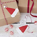 Santa & Friends - Santas Hat With Pom Poms Gift Tags