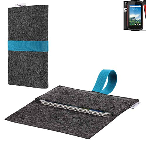 flat.design vegane Handy Hülle Aveiro für Crosscall Trekker-M1 Core passgenaue Filz Tasche Case Sleeve Made in Germany