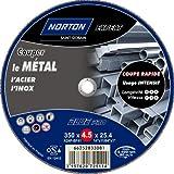 Norton - Disco de corte para máquinas fijas (para metal, 350 x 4,5 x 25,4 mm)