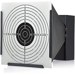 14 X 14 cm Cible Support + 100 cibles Air Piège à granulés Fusil Airsoft Noir Funnel