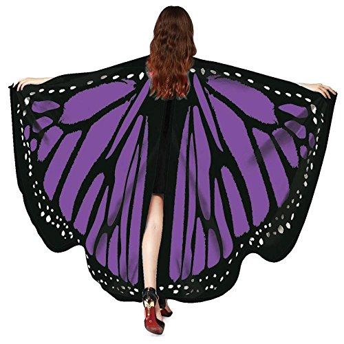 Sexy Halloween Kostüm Damen Schmetterling,ZEZKT 2017 Halloween Kostüm Umhang Fledermaus (Neu - Lila)