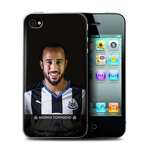 Offiziell Newcastle United FC Hülle / Case für Apple iPhone 4/4S / Pack 25pcs Muster / NUFC Fussballspieler 15/16 Kollektion Townsend