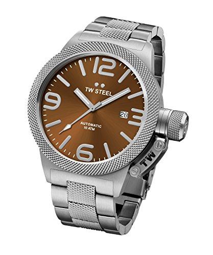 Tw Steel Unisex Datum klassisch Quarz Uhr mit Edelstahl Armband CB26
