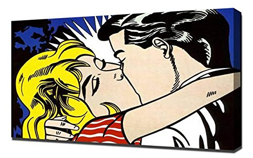 Roy Lichtenstein Kiss - Pop Art Leinwandbild - Kunstdrucke - Gemälde Wandbilder