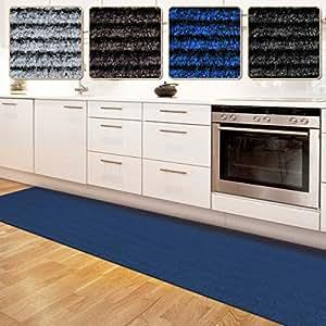 Floori Küchenläufer | strapazierfähiger Teppich Läufer für Küche, Flur uvm. | Teppichläufer / Flurläufer in vielen Größen und Farben | 100x180cm, blau