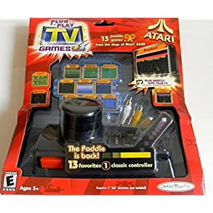 PLUG N PLAY ATARI With 13 TV Games (2004 Edition) by Jakks Pacific