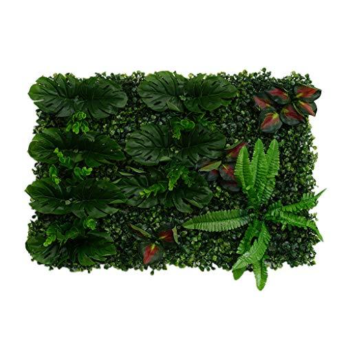 MagiDeal Artificiel Mur Gazon Feuille De Lierre Garland Plantes Vigne Feuillage Fleur Accueil Décor - Feuilles Rouges