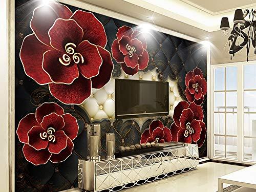 Fototapete dreidimensionale geprägte Blumen europäischen 3D-Wandbild Tv Sofa Hintergrund Wand Wohnkultur Benutzerdefiniert jeder Größe