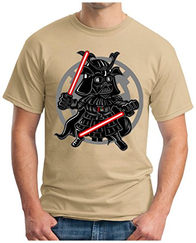 OM3 - DARTH-SAMURAI - T-Shirt JAPAN KENDO STORMTROOPER SUSHI TOKIO GEEK FUN SciFi EMO, S - 5XL Khaki