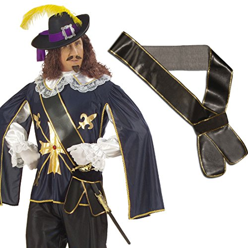 Schwerthalter Piraten Schärpe Leder-Optik Musketier Schwertgürtel Freibeuter Waffengürtel Seeräuber Schwertgurt Mittelalter Gürtel Accessoire Karneval Kostüm (Piraten Schärpe)