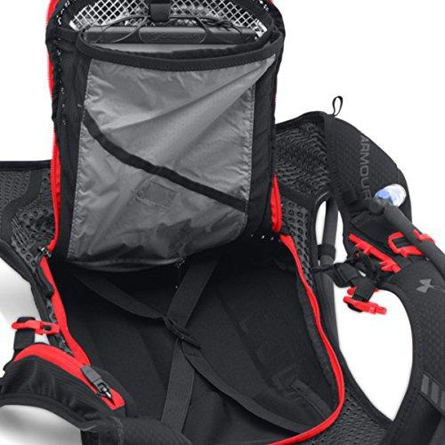 Under Armour Speedform Run Running Backpack Schwarz/Rocket Rot