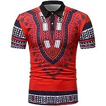 OHQ Camisa De Polo De Moda De Manga Corta De Estilo Africano De Los Hombres Blanco Negro Rojo Verde Los Hombres De… UKk285