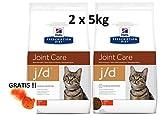 Hill's Prescription Diet Feline j/d Joint Care: 2 x 5kg Veterinary Diets + GRATIS