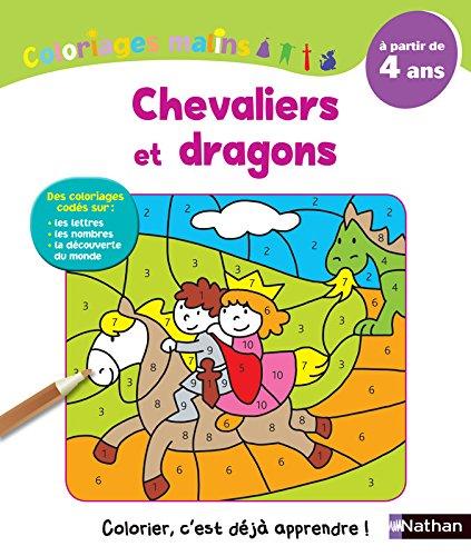 Coloriages Malins - Chevaliers et dragons - A partir de 4 ans