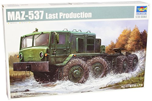 Trumpeter 01006 - modellino da assemblare, trattore ruotato maz-537, tarda produzione