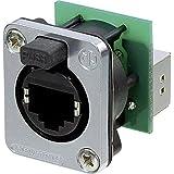 Connectique EtherCon® série D RJ45 Neutrik NE8FDP-SE femelle droit Pôle: 8P8C noir 1 pc(s)
