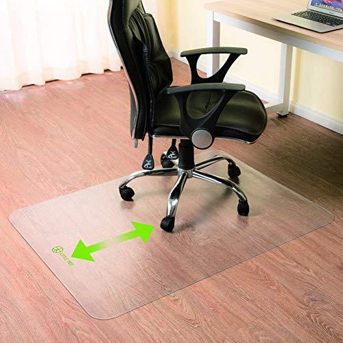 LITTLE TREE Bodenschutzmatte Stuhlmatte transparent PVC, EasyRoll-Oberfläche, Rutschfest, Kratzfest,Schlagfest und Abriebfest für Teppich,teppichboden, Laminat und Hartböden (180 x 90 cm)
