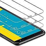 Zloer [Pack de 3] Verre Trempé Samsung Galaxy A6 2018 Film Protection Ecran - [9H Dureté] [Anti Rayures] [sans Bulles, Facile à Installer] pour Protection Ecran Samsung Galaxy A6 2018