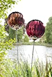 2ER ROSENKUGEL GLASSTICKER GARTENSTICKER GLAS GARTENSTECKER BEETSTECKER BLUMENSTECKER GLASSTECKER