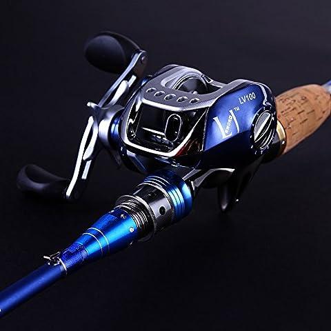 Sougayilang Spinning Baitcasting Fishing Rod with Fishing