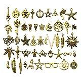 Abalorio espaciador suelto de oro envejecido mezclado, suministros de manualidades, colgantes para joyería, accesorios para hacer pulseras y collares