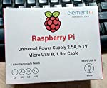 Official Raspberry Pi power supply, ideal for use with any Raspberry Pi board. This power supply comes with 1.5m Micro USB lead and four changeable heads for use in the UK, Europe, Australia & US regions. It supports up to 2.5A of current which i...