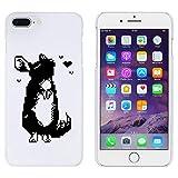 Weiß 'Pixel Chinchilla' Hülle für iPhone 7 Plus (MC00112244)