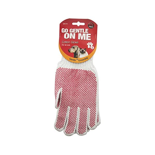 Mikki Dog Puppy, Cat Grooming Cotton Glove Brush, Gentle Grooming, Gives a Shiny Glossy Coat 1