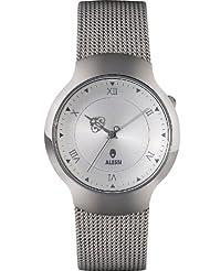 Alessi AL27022 - Reloj analógico unisex, correa de acero inoxidable color gris