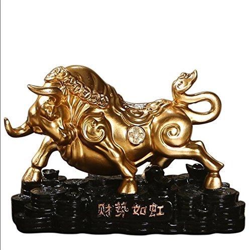 Crafts unicorno ornamenti resina feng shui fortunato ornamenti bestiame ufficio apertura regali Zodiac mobili per la casa bestiame arredamento , b