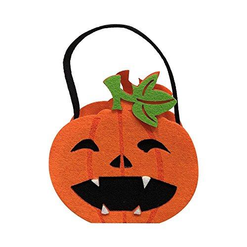 its Tasche Kreative Plätzchen Geschenk Tasche Halloween Dekoration Ornaments Party Geschenke 15 * 8cm Orange Kürbis ()
