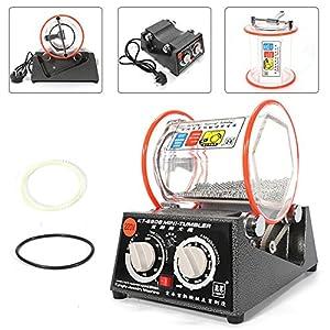 3kg Poliertrommel YUNRUX Labor-Kugelmühle Poliermaschinen Elektrische Rotary Jewelry Polisher Polierger Finisher Maschine Rotationspolierer 220V