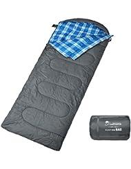 Mountaintop Sac de couchage ultraléger pour Randonnée camping 213cm x 77cm