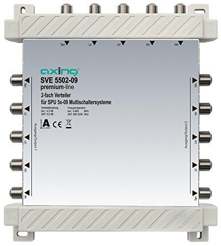Axing SVE 5502-09 Verteiler (2-fach, 5 bis 2200MHz) für Multischalter SPU 5xx-09/SES 556-x9