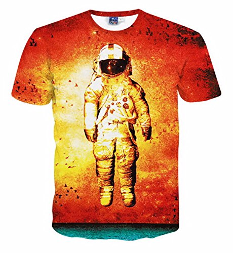 Men's 3D Both Sides Printed Short Sleeves Tee Shirt MODELS AS PICTURE 3