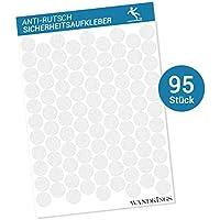 Pegatinas antideslizantes - 95 puntos adhesivos de 2,7 cm de diámetro para la seguridad en la bañera y la ducha