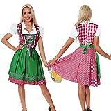 thematys® Dirndl Oktoberfest Abito Tradizionale - Set di Costumi da Donna - Perfetto per Il Carnevale e l'Oktoberfest - 4 Taglie Diverse (XL, Style 1)