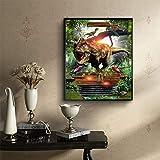 Hukz Dinosaurier,5D Stickerei Gemälde Elch Strass eingefügt DIY Diamantmalerei,ür Wohnzimmer,Schlafzimmer, Arbeitszimmer usw(30x40cm) (Farbe)
