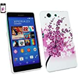 Emartbuy® Sony Xperia Z3 Compact Gel Hülle Schutzhülle Case Cover Rosa Blossom