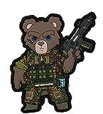 Tactical KSK Teddy - 3D PVC Patch - Flecktarn MIT G36 - HAKENKLETT
