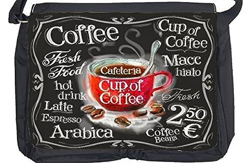 Bandoulière Publicité Cuisine tasse de café imprimées