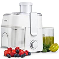 VonShef Essentials Juicer 300W - Large Centrifugal Juice Extractor - 2 Speeds - Electric Fruits and Vegetables Juice Maker - White