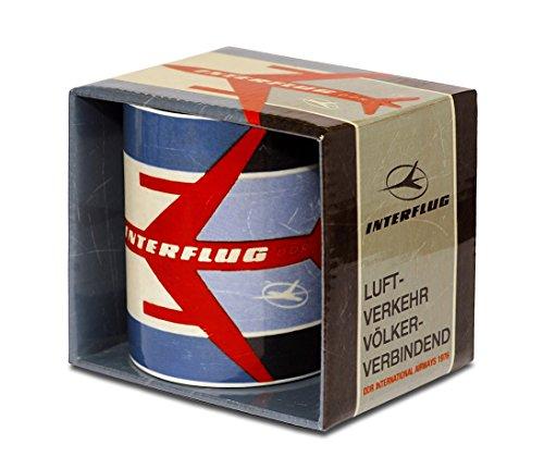 Airlines - Interflug Luftverkehr Porzellan Tasse - Kaffeebecher - türkis - Lizenziertes Originaldesign - LOGOSHIRT (Airline-geschirr)