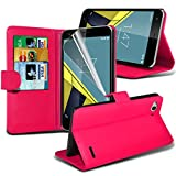 Vodafone Smart Ultra 6 Pink Farbe PU Lederetui Buch-Stil