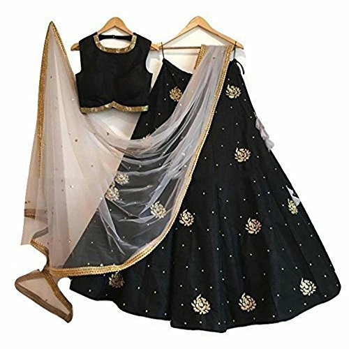 New Latest Bollywood Designer Black Embroidered Lehenga Choli